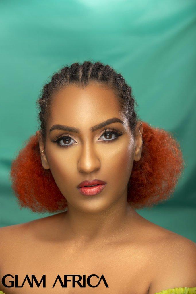 1glam africa magazine release juliet ibrahim shoot for big beauty
