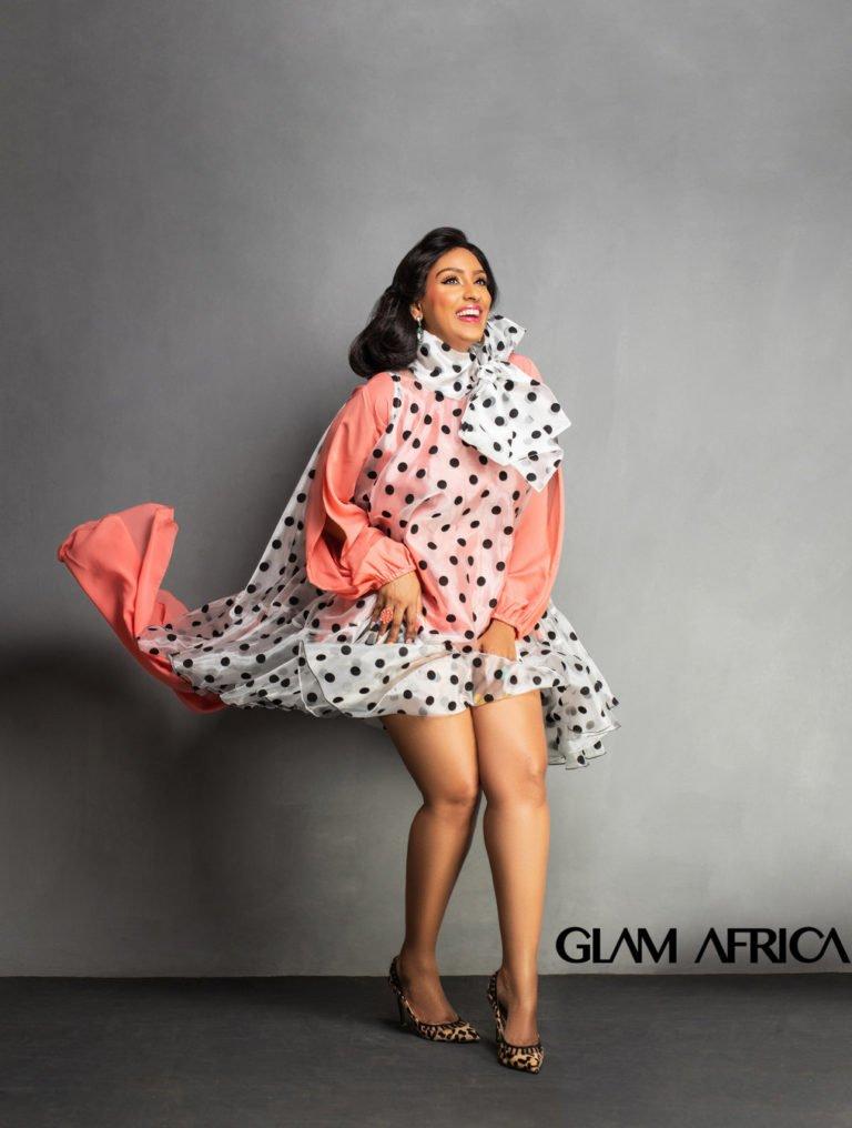 5glam africa magazine release juliet ibrahim shoot for big beauty